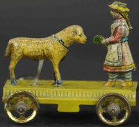 Meier Tin-Penny Toy Mary and her lamb. A wonderful...