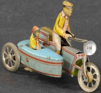 Meier Tin-Penny Toy Motorcycle with side car. Nice...