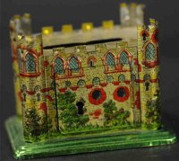 Meier Tin-Penny Toy Medieval castle as bank. Another...