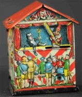L. Georg Bierling & Co Tin-Penny Toy Puppet theater as...