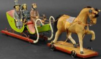 Rock & Graner Tin-Carriages Snow sleigh with three...