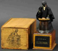 Ives Wood-Figures Our new Clergyman with wooden box. One...