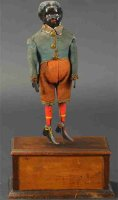 Ives Wood-Figures Giant platform dancer, rare example,...