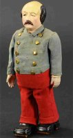 Ives Tin-Figures General Butler as walker. Patented 1875,...