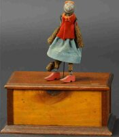 Ives Wood-Figures Monkey jigger. Clockwork dancing...