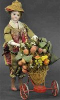 Unknown Tin-Automata Fruit seller mechanical doll toy....