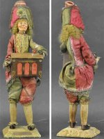Unknown Tin-Automata French Polichinelle organ grinder...
