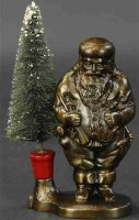 Ives Cast-Iron-Mechanical Banks Santa with removeable...
