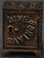 Shimer Toy Co. Cast-Iron-Mechanical Banks Dime savings...