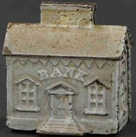 Stevens Co J. & E. Cast-Iron-Mechanical Banks House with...