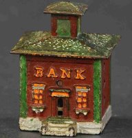Stevens Co J. & E. Cast-Iron-Mechanical Banks Small...