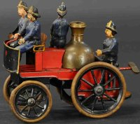 Guenthermann Tin-Fire-Truck Fire pumper car, wind-up toy,...