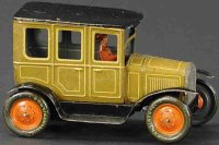 Bing Tin-Oldtimer Sedan with unusual color ocher and...