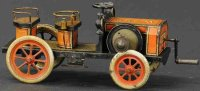 Hess Tin-Oldtimer Early touring car with flywheel, made...