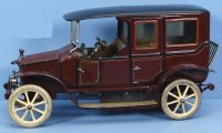Maerklin Tin-Oldtimer Sedan with clockwork without driver...