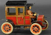 Guenthermann Tin-Oldtimer Saloon mid teens, lithographed...