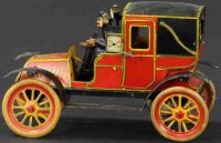 Rossignol Tin-Oldtimer Taxi de la marne, wind-up toy with...