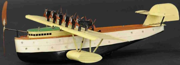 Fleischmann Tine Ariplanes Pontoon seaplane DoX with wind-up. Large passenger plane wit