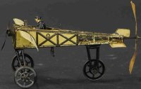 Guenthermann Tine Ariplanes Bleriot toy airplane,...