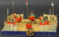 Doll Steam Toys-Drive Models Fairground carousel. The...