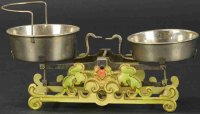Maerklin Tin-Toys Large cast iron scale with elaborate...