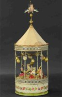 Unknown Tin-Carousels Large plink plank carousel. Wind-up...