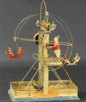 Guenthermann Tin-Carousels Early clown spinning ferris...