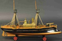 Radiguet & Massiot Tin-Ships Steam powered medium gunboat...
