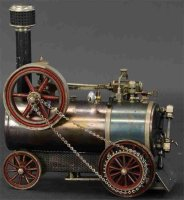 Bing Steam Engines-Mobile Lokomobile Large live steam...