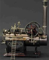 Doll Steam Engines-stationary-Lokomobile Large stationary...