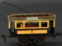 Carette Tin-Trams Early clockwork trolley with replaced...