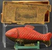 Plank Ernst Tin-Animals Swimming fisch with box and...