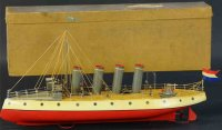 Unknown Tin-Ships Boxed clockwork ocean liner, unknown...