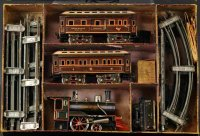 Carette Railway-Trains Boxed American passenger set. Rare...