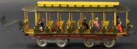 Lionel Tin-Trams Trolley #300.1 with eight wheels, this...