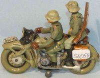 Hausser (Elastolin) Military-Motorcycles Motorcycle #591...
