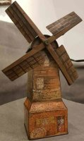 Huntley & Palmers Tin-Mechanical Banks Windmill figural...