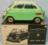 Bandai Tin-Cars BMW Isetta 600 #749 with flywheel drive...