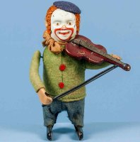 Schuco Tin-Dance Figures Clown with violin #986/2...