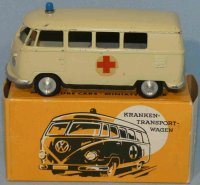 Maerklin Tin-Buses VW T1 bus #8030 as patient transport...