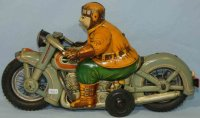 Yone Tin-Motorcycles Big Harley with flywheel drive. Made...