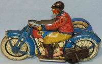J.M.L. Co Tin-Motorcycles Motorcycle with sidecar and...