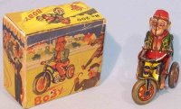 Arnold Tin-Figures Monkey Bobby #200 on tricycle with...