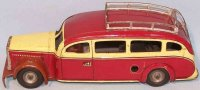 Tippco Tin-Buses Omnibus with roof rack and sides reads...