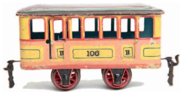 Maerklin Railway-Locomotives Trailer car #1067/0 with four wheels, for higway and subway,