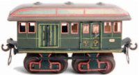 Maerklin Railway-Passenger Cars Early postal car #1844/0...
