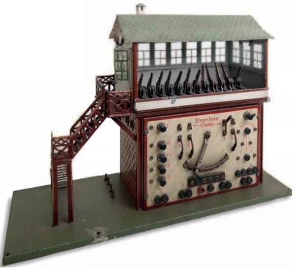 Maerklin Railway-Interlockings Signal box #3739 for heavy current. It is a large model with