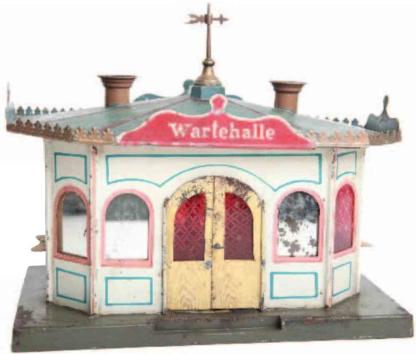 Maerklin Railway-Platforms Waiting hall #1501 for tram, also for railway, with candle l