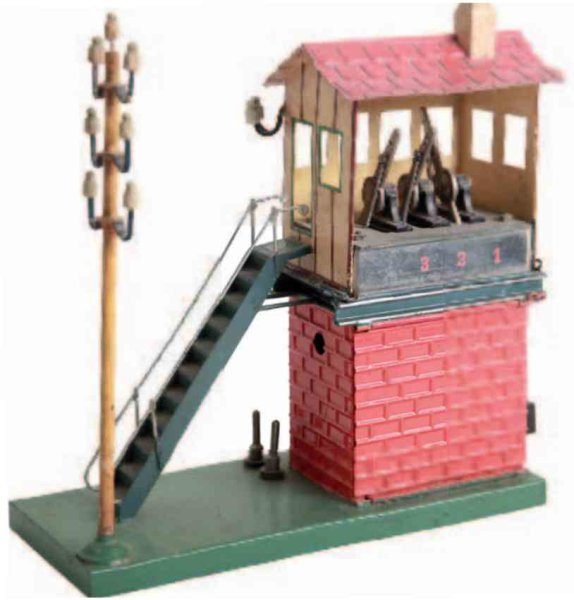 Maerklin Railway-Interlockings Electric central signal box #3742. The one-sided open signal