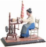 Guenthermann Steam Toys-Drive Models Woman at spinning...